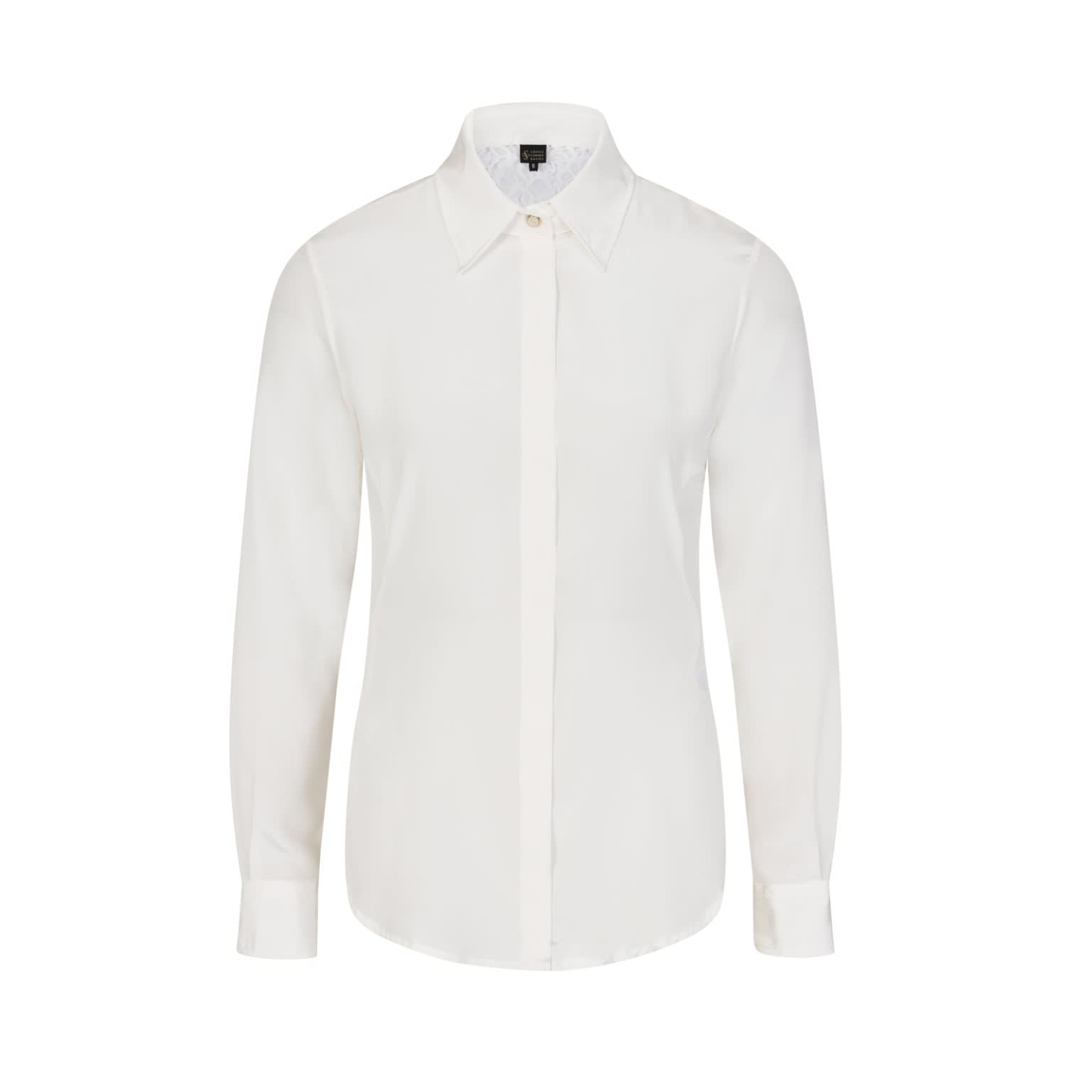 e8bb4a2765a083 Ivory Fitted Silk Shirt image