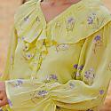Lemon Lavender Frill Top image
