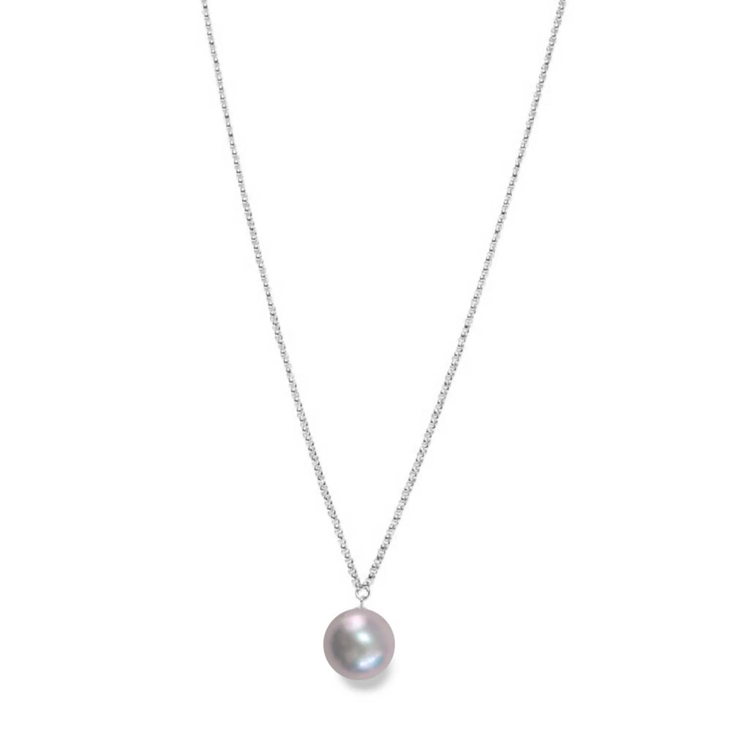 ORA Pearls Sterling Silver XXL White Pearl Pendant Necklace kuwyZ