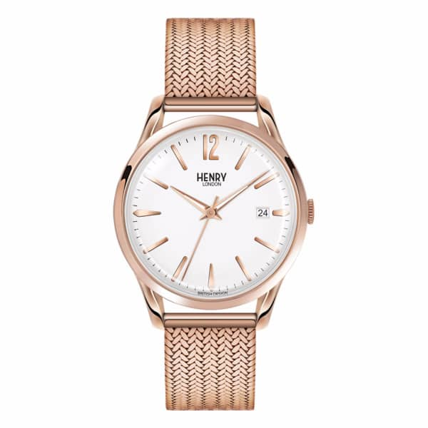 HENRY LONDON Ladies 39Mm Richmond Stainless Steel Bracelet Watch