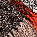 Studio Altar For Allpa : Handwoven Alpaca Throw - Taupe & Orange image