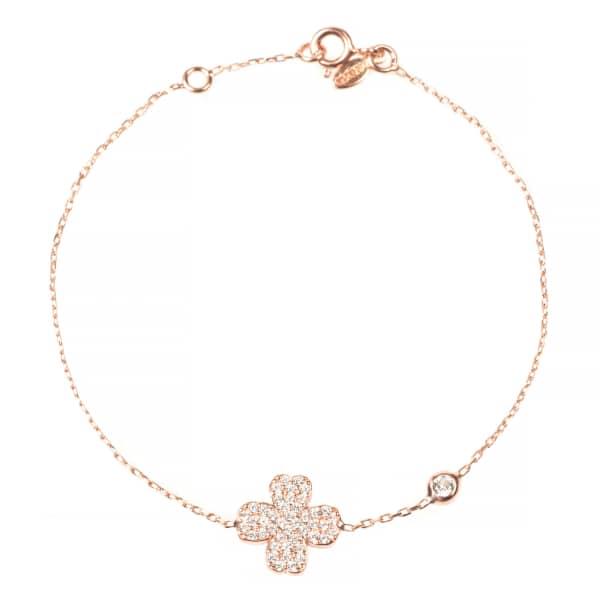 Lucky Clover Bracelet Rosegold