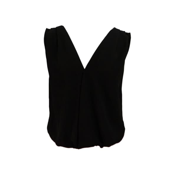 LAUREN LYNN LONDON The Millie Black Top V Neck Top Sleeveless
