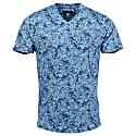 Maze V-Neck in Branches Blue image