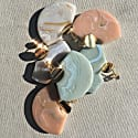 Element Earrings In Apricot Agate image