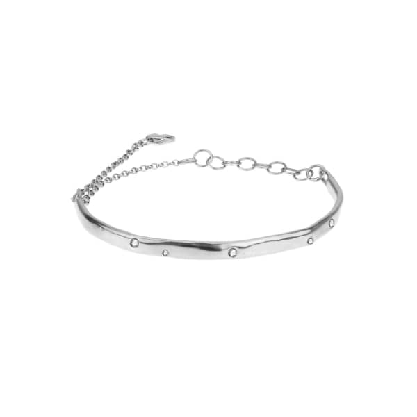 YVONNE HENDERSON JEWELLERY Scatter Bracelet with Silver and White Sapphires