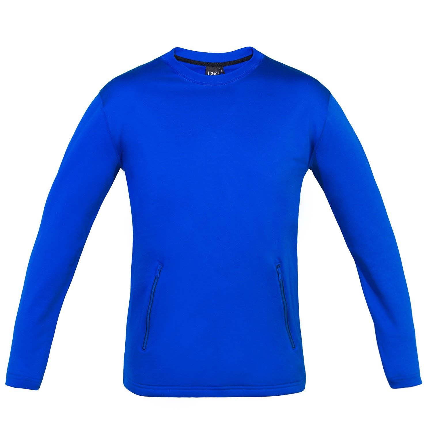 L23 - Cotton Jersey Long Sleeve T-Shirt With 2 Pocket Zippers
