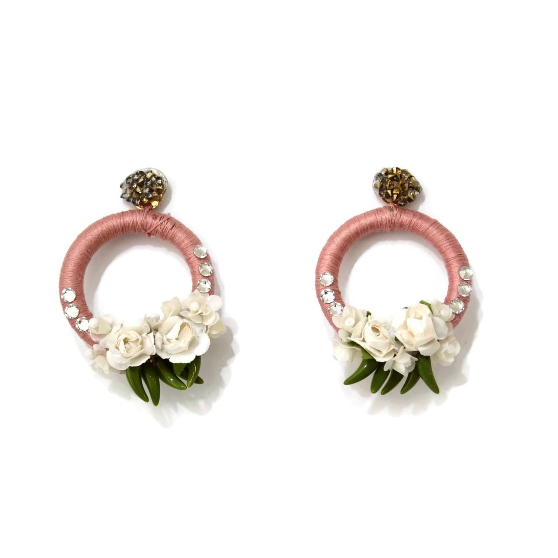 Gardenia Pale Rose Earrings Image