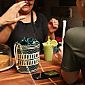 Green Cabo Straw Bucket Bag Green image
