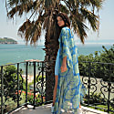Leaf Design Kimono in Blue & Green image
