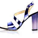 Metallic Effect Timeless Classic Sandals Purple image
