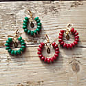 Limited Edition Red Candy Jade Earrings image