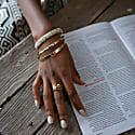 Ringa Hammered Brass Charm Bracelet image