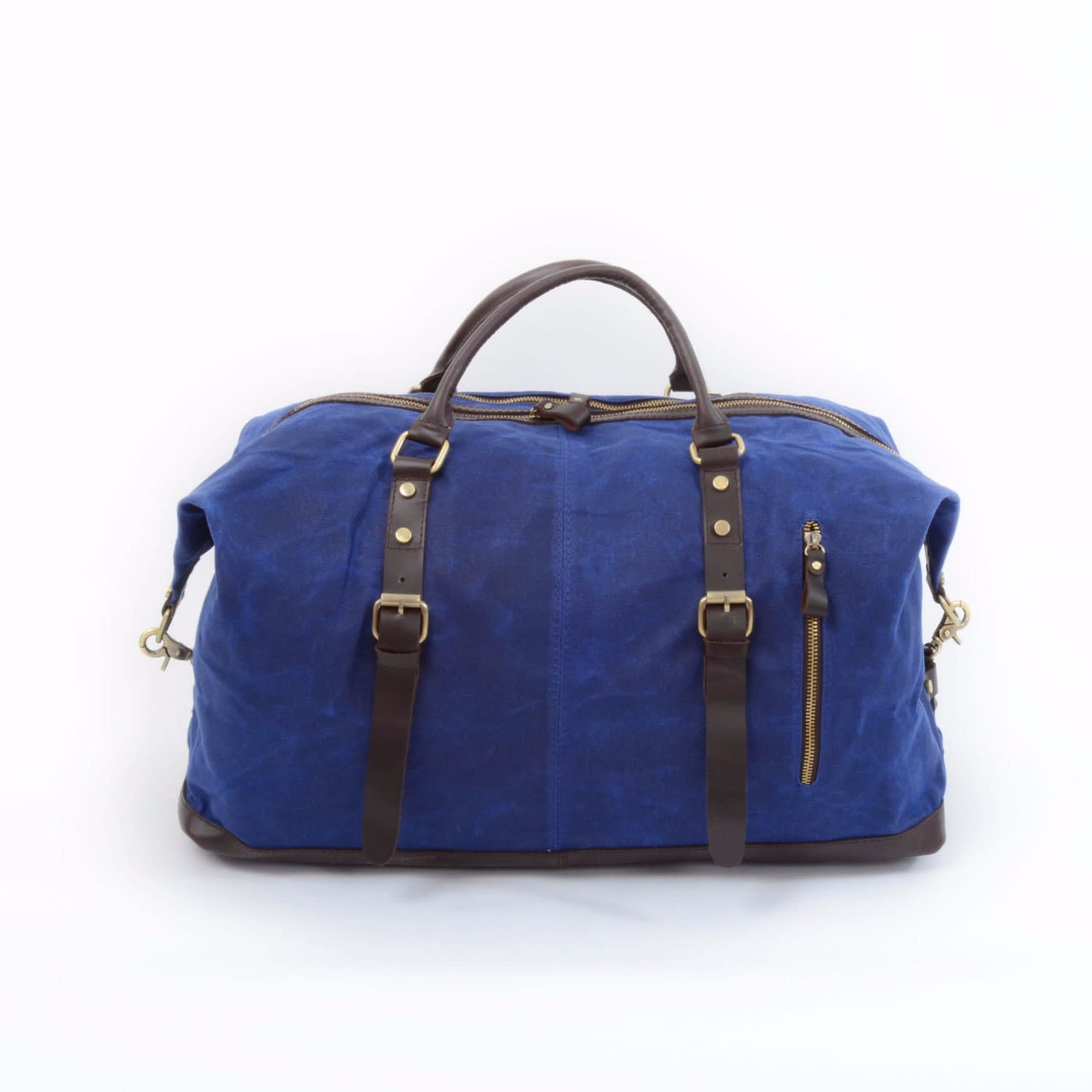 3ee67f7a2f Handmade Waxed Canvas Travel Holdall image