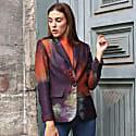 Abstract Digital Print Blazer Jacket image