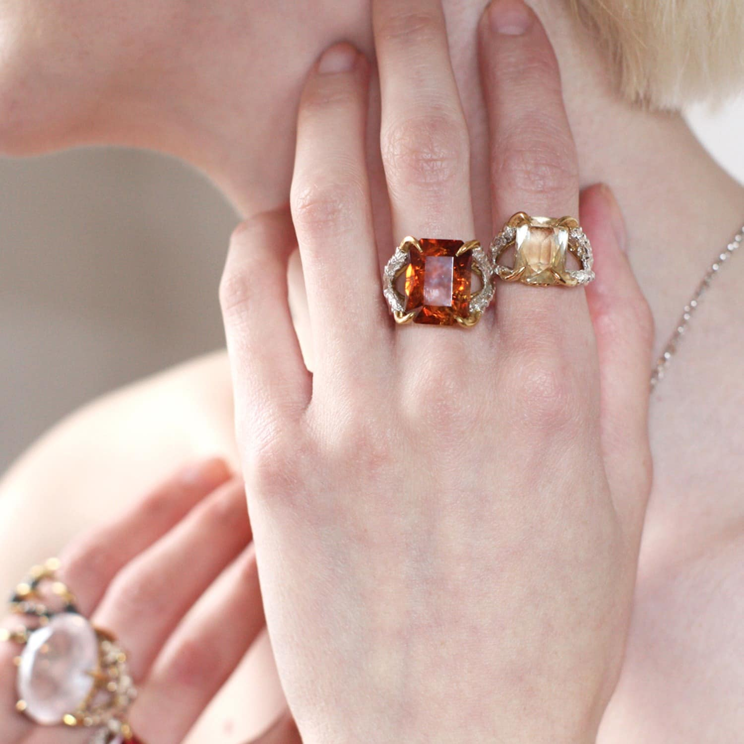 Antique Citrine Claws of Engagement | Tessa Metcalfe | Wolf & Badger