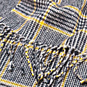 Prince Of Wales Cashmere Scarf  White New Blue & Yellow image