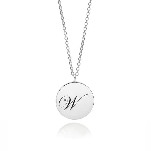 MYIA BONNER Sterling Silver Initial W Edwardian Pendant