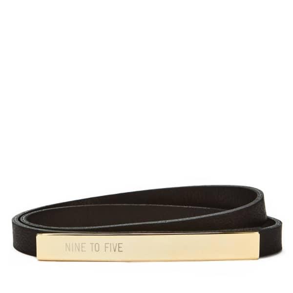 NINE TO FIVE Long Lead Belt Douro Black