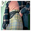 Dual High-Waisted Skirt In Scottish Tartan 100% Wool image