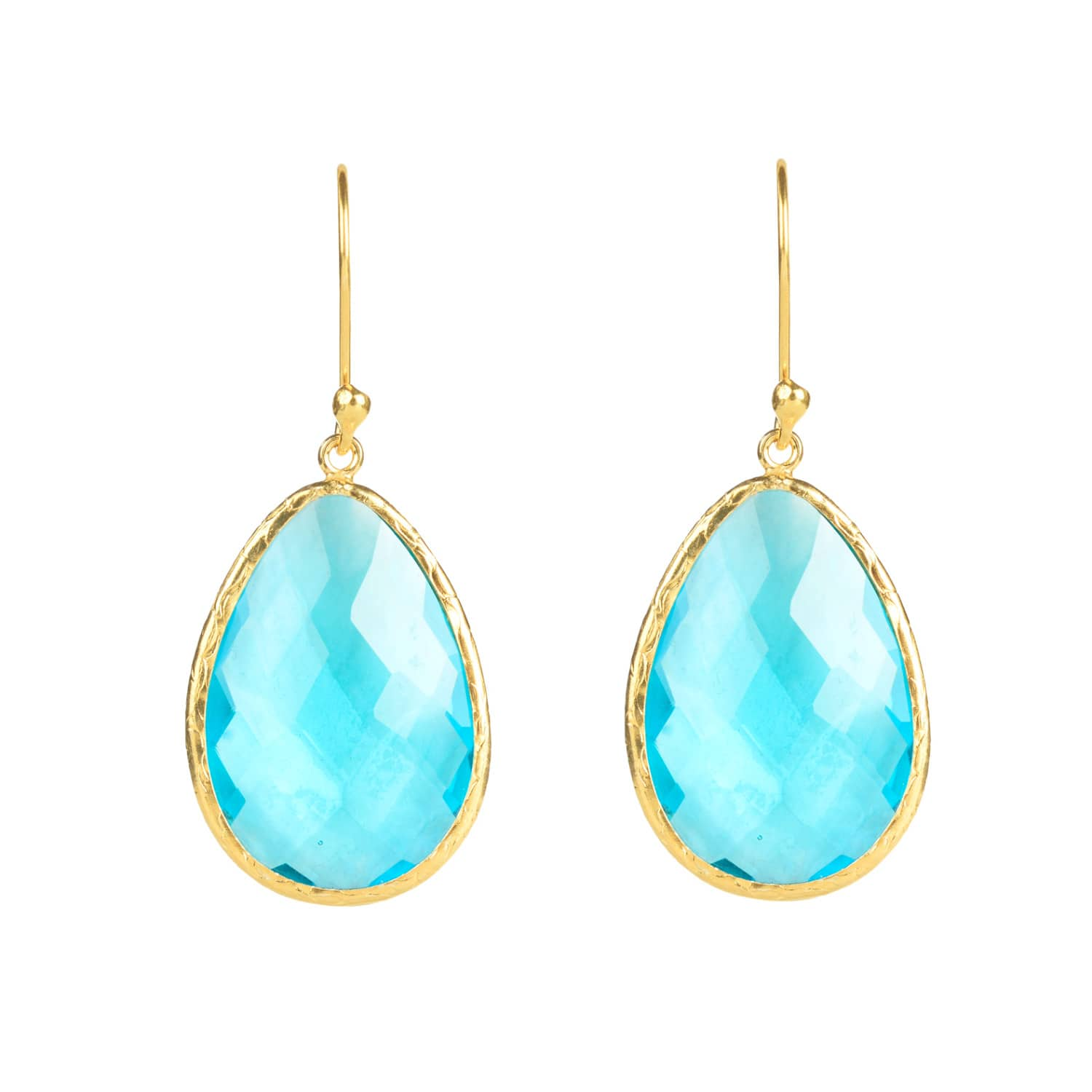 Latelita London Silver Single Drop Earring Blue Topaz 5eWfUJYYe