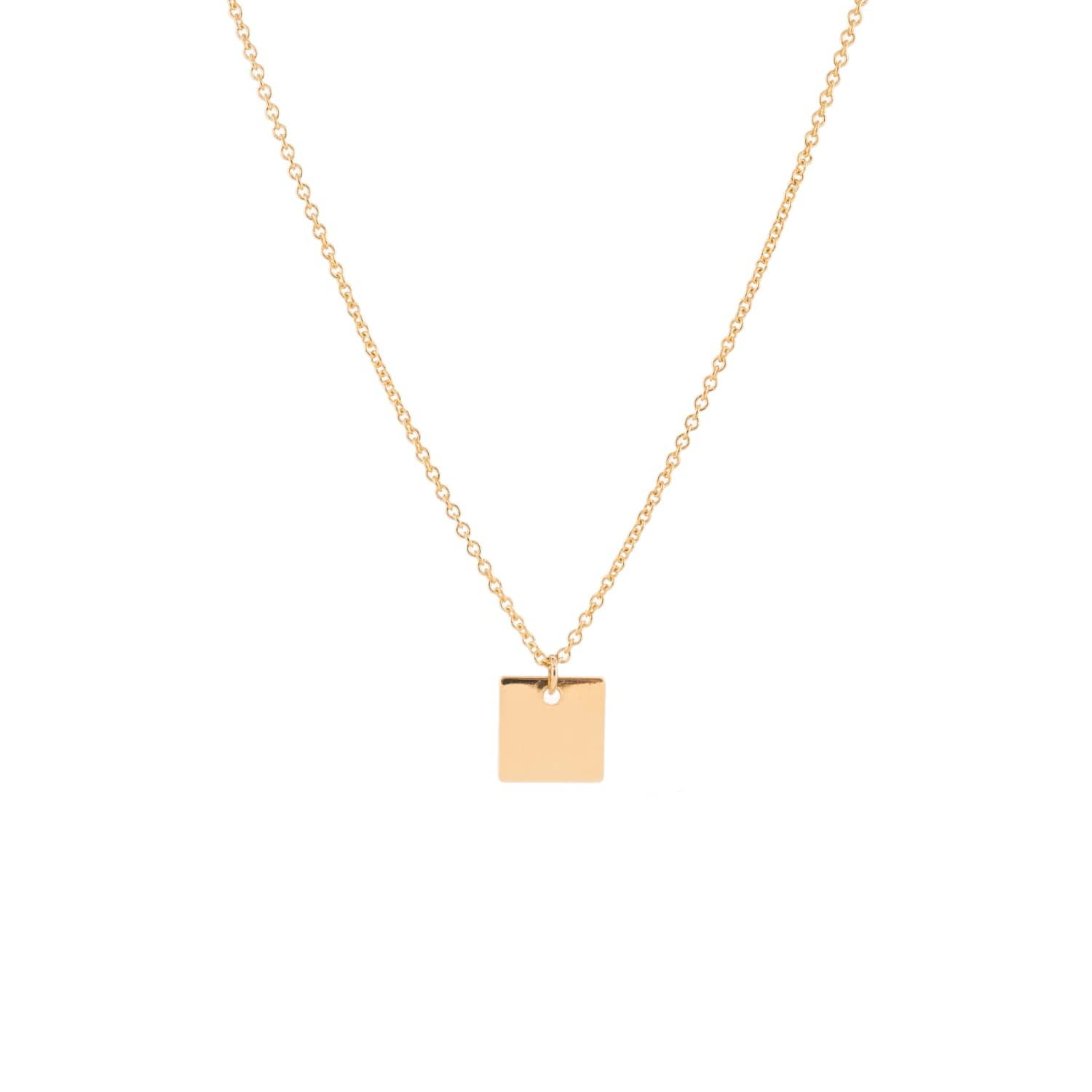 Gold square pendant necklace featherstone wolf badger gold square pendant necklace image aloadofball Choice Image