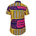 Men's Short-Sleeved African Print Shirt - Azzei image