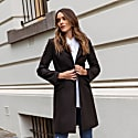 Wool Cashmere Tailored Coat - Black image
