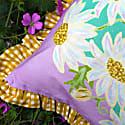 Lilac Daisy Bouquet Cushion image