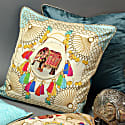 Agra Cloud Large Silk Cushion image