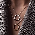 Circle Necklace Gold Plated Silver image