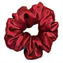 Limited Edition Luxe Pure Silk Hair Scrunchie - Garnet Red image