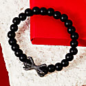 The Claw Oxidised Sterling Silver Mens Matte Black Bracelet image