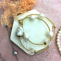 Freshwater Pearls With Baroque Pearl Double Wrapped Bracelet image