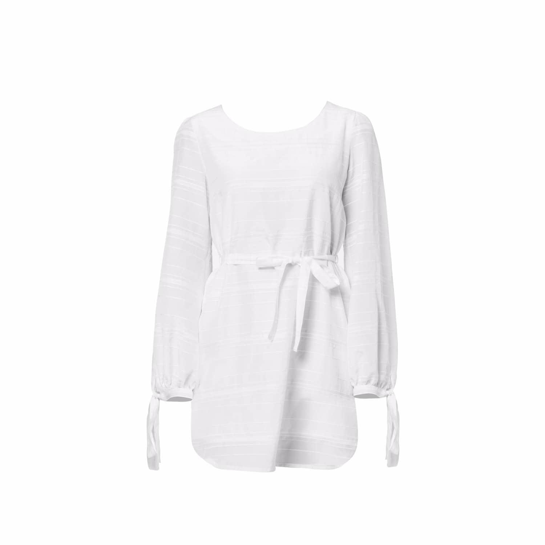 White Silk Dress by Shopyte