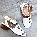 Fialta Leather Sandals In White image