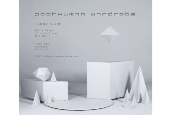 Posthuman trunk show