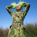 Green Jacquard Coat image