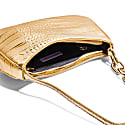 Newbie Baguette In Gold Croco image