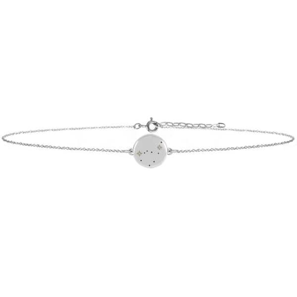 NO 13 Capricorn Zodiac Constellation Choker Diamonds & Silver