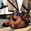 Luxury Men's Socks Twin Pack Black Gold image