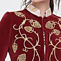 Fuchsia Embroidered Blazer Alejandra image