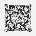 Floral Black & White Cushion image