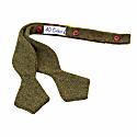 Green Herringbone Wool Spencer Bow Tie image