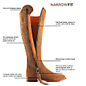 The Regina Narrow Fit Suede Boot - Tan image