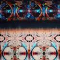 Razor Scarf Orbit print image