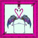 Flamingo Pink Silk Satin Scarf image