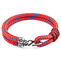 Red Great Yarmouth Silver & Rope Bracelet image