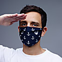 Pack Of 2 Face Masks - Anchor Navy Blue image