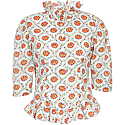 Charlie Shirt In Red Floral Ogee image